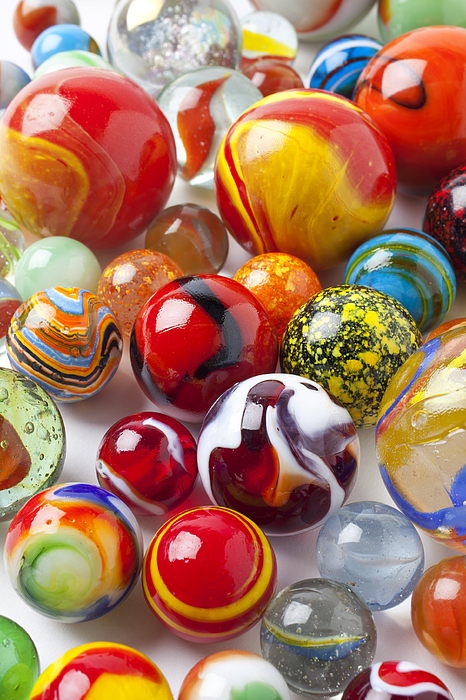 Marbles Close Up Print by Garry Gay