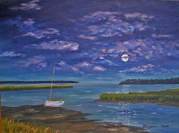 Marsh Moon Print by Stanton Allaben