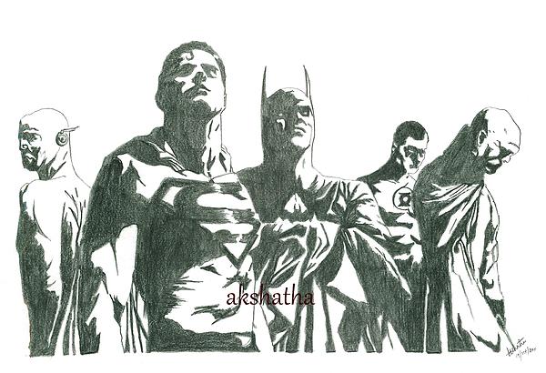 Marvel Heros Print by Akshatha Suryanarayana