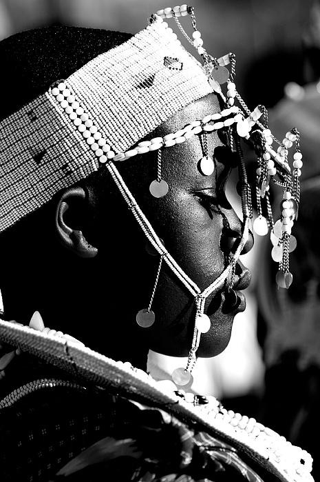 Massai Bride Print by Miranda  Miranda