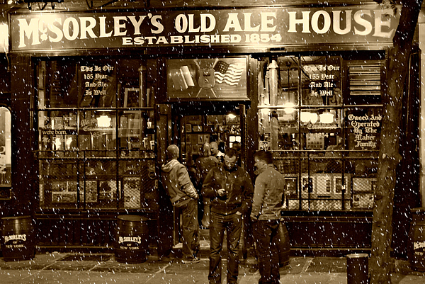 Mcsorley's Old Ale House Print by Randy Aveille