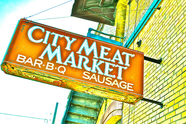 Meat On The Market Print by Chuck Taylor