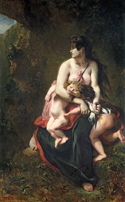 Medea Print by Ferdinand Victor Eugene Delacroix
