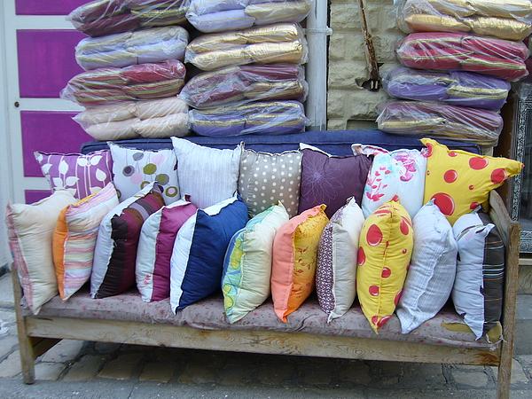 Medina Pillow Shop Print by Ornella Coppo