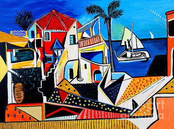 Art by Danielle - Mediterranean- Tribute to Picasso