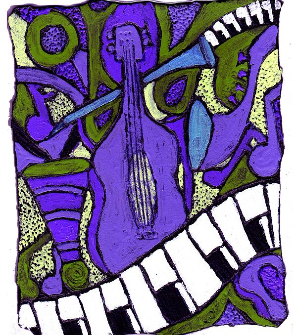 Melllow Jazz Print by Wayne Potrafka