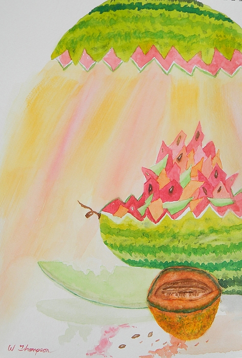 Melon Head Bar And Grill Print by Warren Thompson
