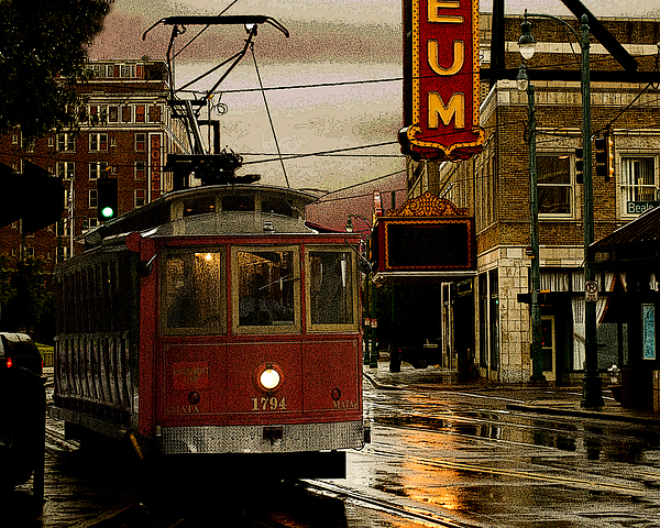 Memphis Tennissee Streetcar Print by Don Wolf
