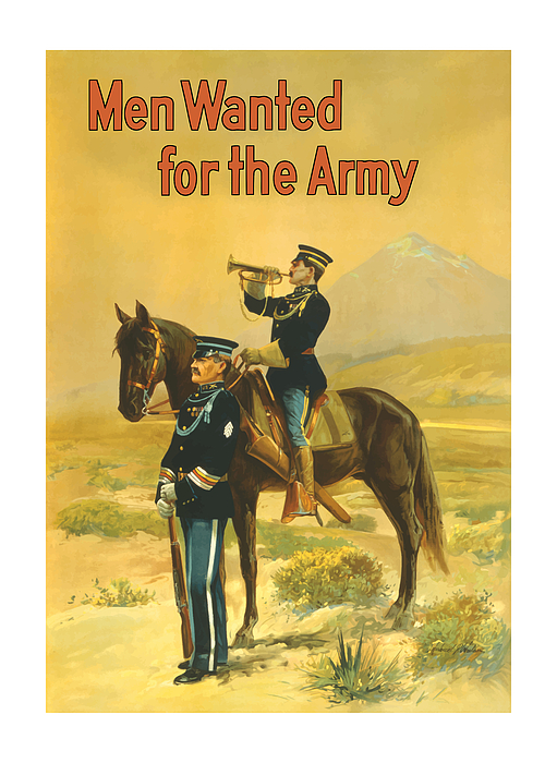 Men Wanted For The Army Print by War Is Hell Store