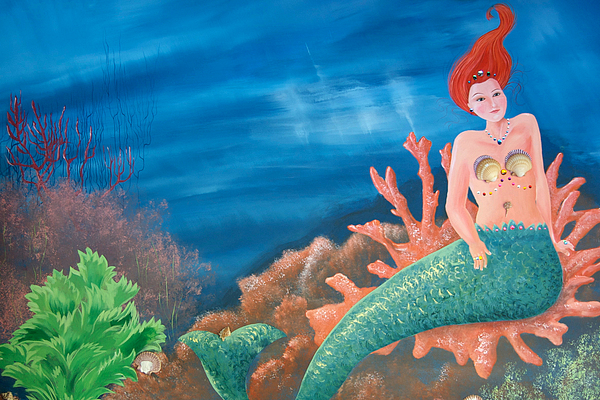 Mermaid Print by Holly Whiting