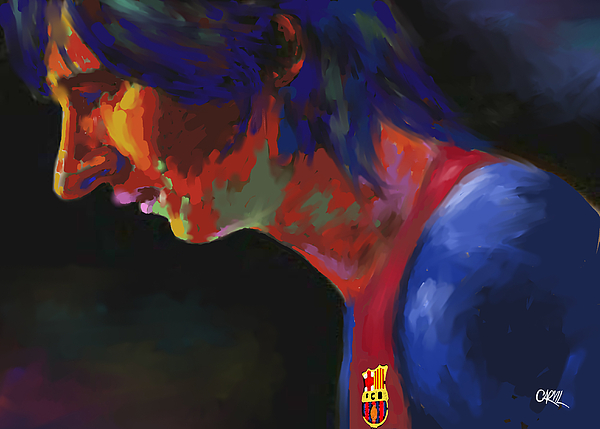 Messi Print by Carvil