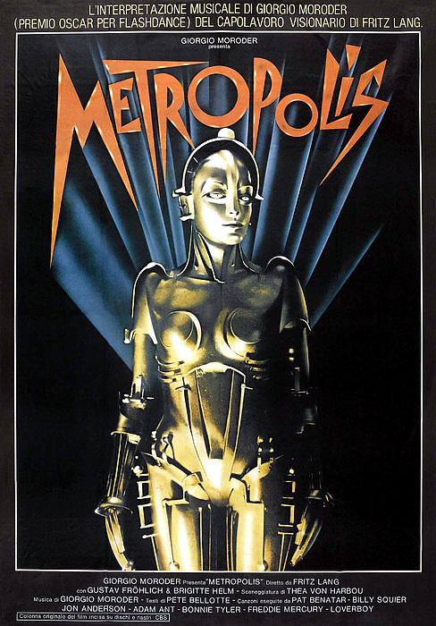 Metropolis, 1927 Poster For 1984 Print by Everett