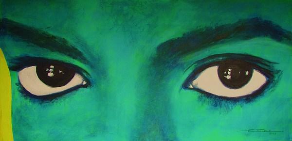 Michael Jackson - Eyes Print by Eric Dee
