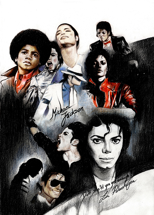 Michael Jackson - King Of Pop Print by Lin Petershagen