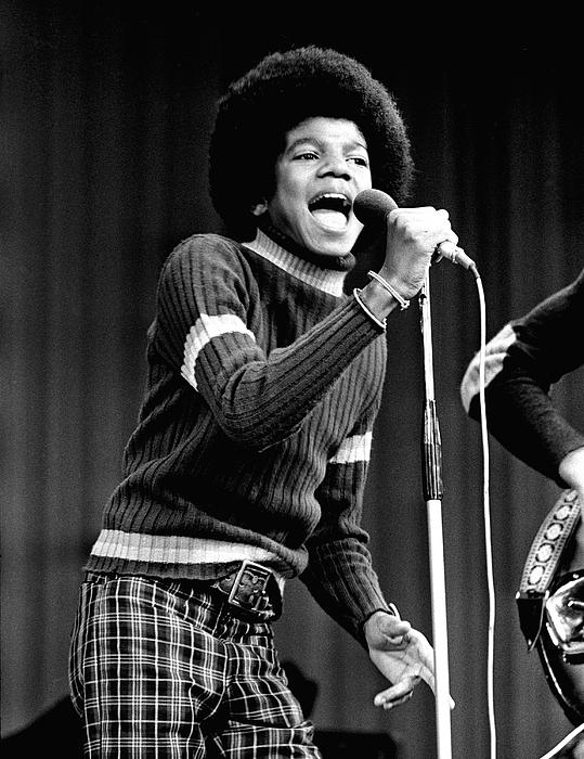 Michael Jackson 1972 Print by Chris Walter