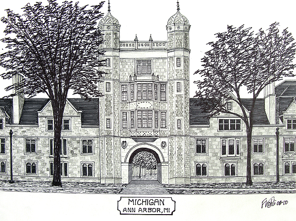 Michigan Print by Frederic Kohli