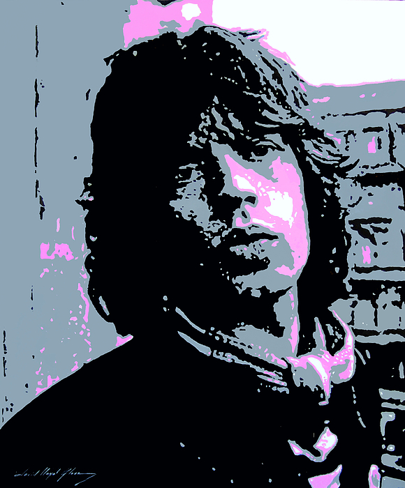 Mick Jagger In London Print by David Lloyd Glover