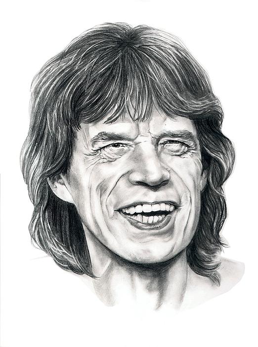 Mick Jagger Print by Murphy Elliott