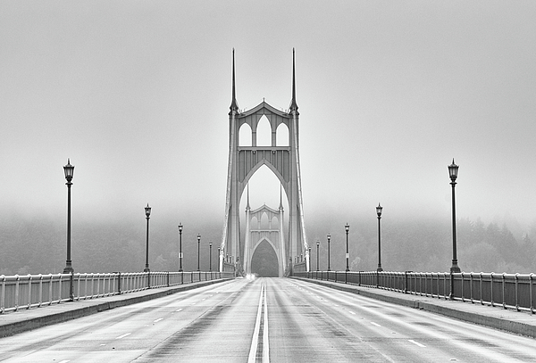 Middle Of Bridge Print by Chad Latta
