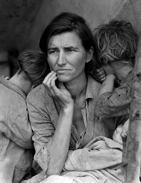 Migrant Mother, Portrait Of Florence Print by Everett