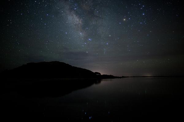 Milky Way Over Pamlico Sound Print by Daniel Lowe