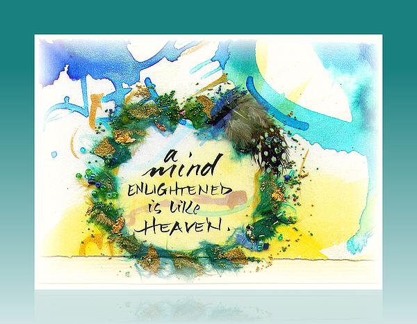 Mind Enlightened Print by L Jaye  Bell