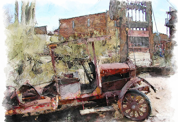 Miners Truck Print by Dale Stillman