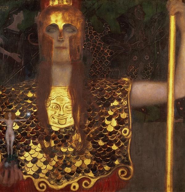 Minerva Print by Gustav Klimt