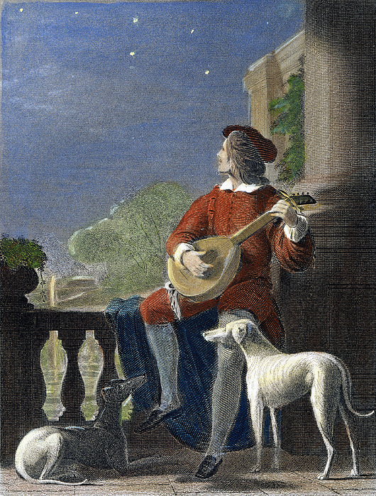 Minstrel, 19th Century Print by Granger