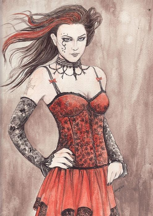 Mis Gothika Print by Morgan Fitzsimons