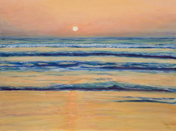 Mission Beach Evening Print by Julie Kreutzer
