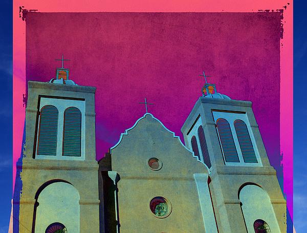Mission New Mexico Var.2 Print by Susanne Van Hulst