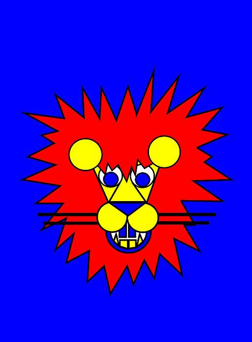 Mister Lion Print by Asbjorn Lonvig