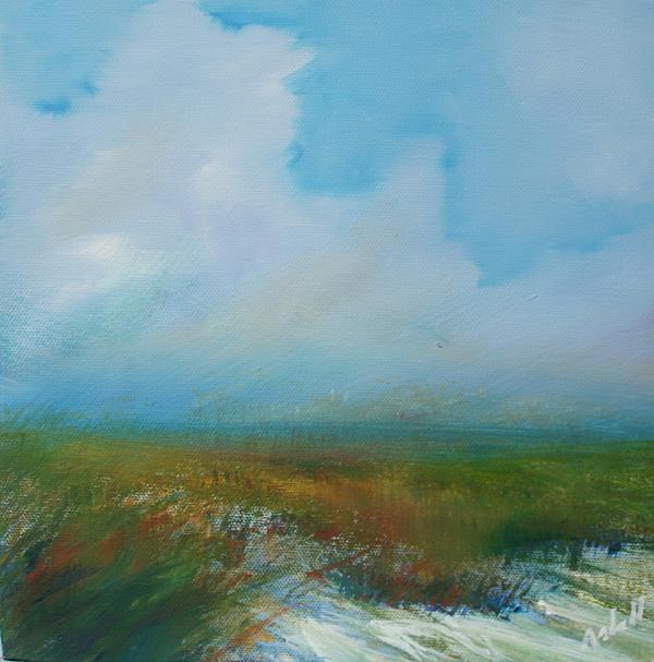 Misty Marsh Print by Michele Hollister - for Nancy Asbell