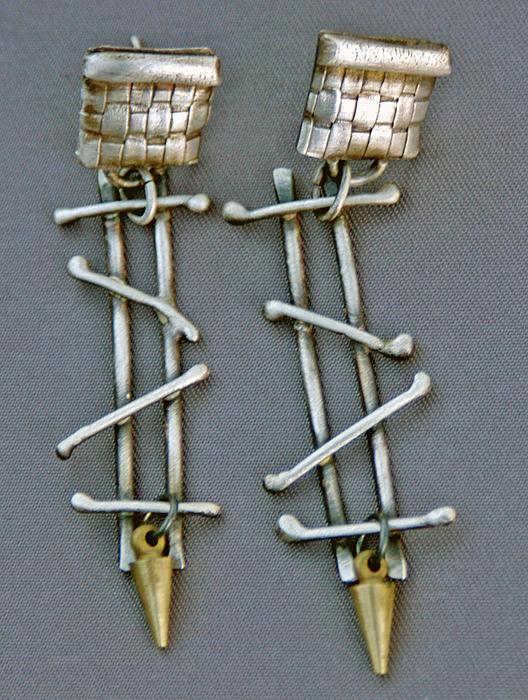 Mixed Metal Earrings Print by Mirinda Kossoff