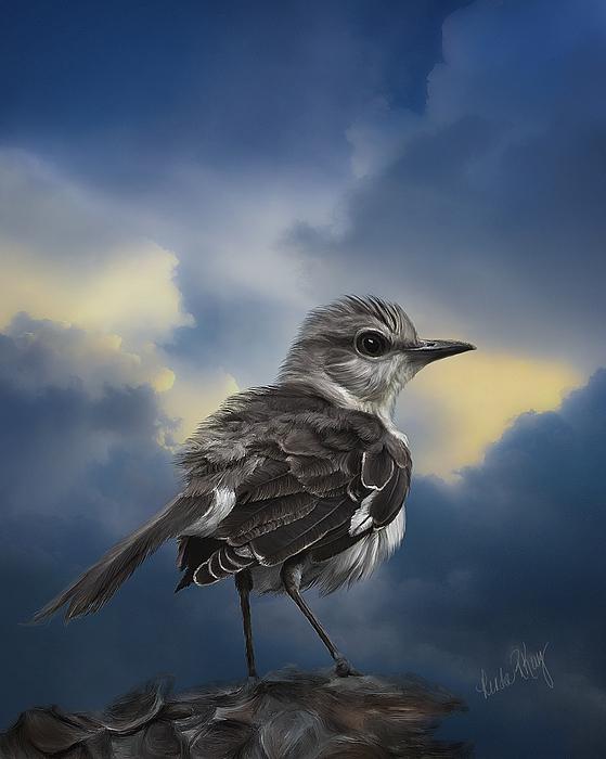 Linda R King - Mockingbird Atmospheric Artwork #1