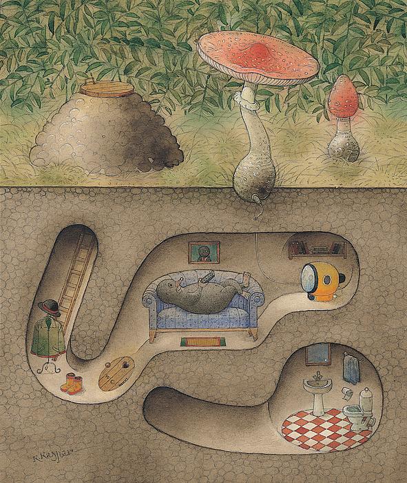 Mole Print by Kestutis Kasparavicius