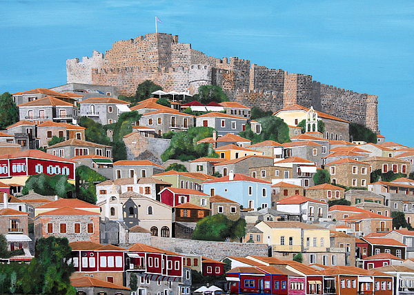 Molyvos Lesvos Greece Print by Eric Kempson