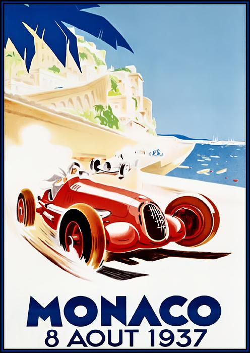 Monaco Grand Prix 1937 Print by Nomad Art And  Design