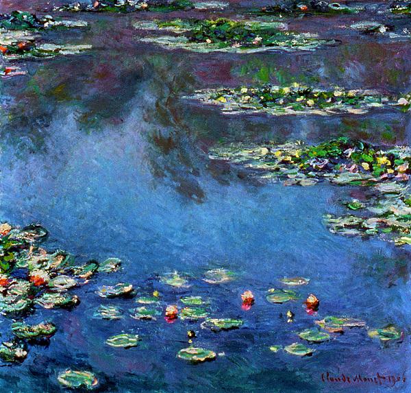 Monet: Waterlilies, 1906 Print by Granger