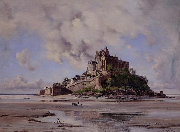 Mont Saint Michel Print by Emmanuel Lansyer