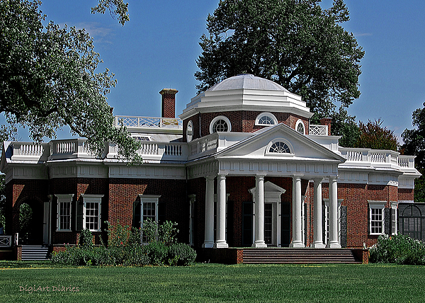 Monticello Print by DigiArt Diaries by Vicky B Fuller