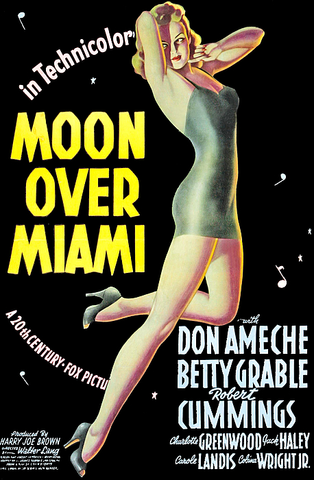 Moon Over Miami, Betty Grable, 1941 Print by Everett
