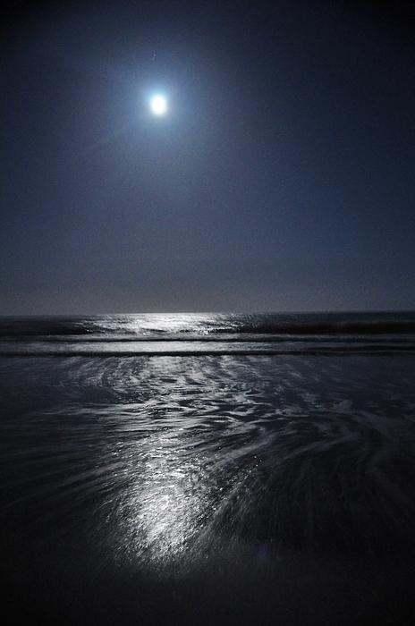 Moon Over Ocracoke Print by Jeff Moose