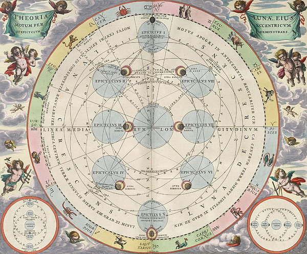 Moon With Epicycles Harmonia Print by Science Source