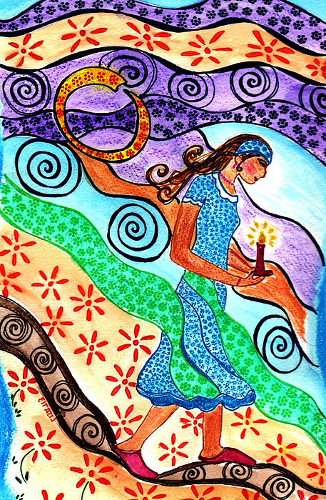 Moonlit Meditation Print by Lisa Cioppettini