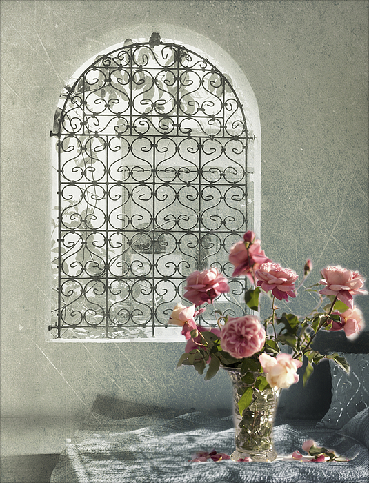 Moroccan Rose Print by Linde Townsend