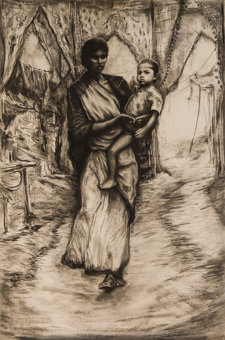 Mother And Child Print by Tim Thorpe