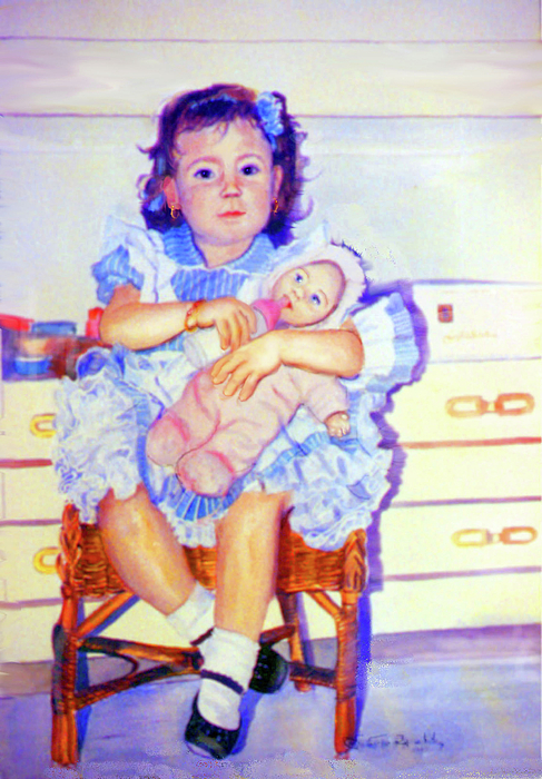 Mother Instinct Print by Estela Robles