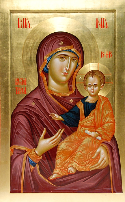 Mother Of God Print by Daniel Neculae